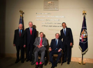 Carter, Clinton, H.W. Bush, W. Bush, and Obama