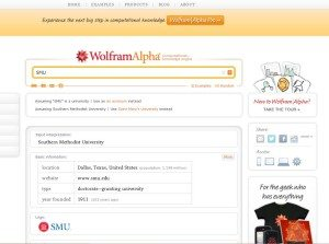 Search Tools Wolfram Alpha