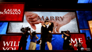 Over-the-top marriage proposal