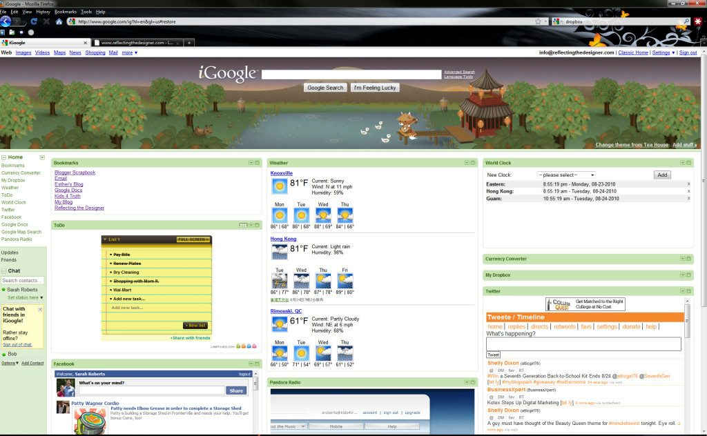 iGoogle Personalized Homepage Providers