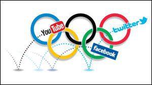 Olympics rings  and social media logos