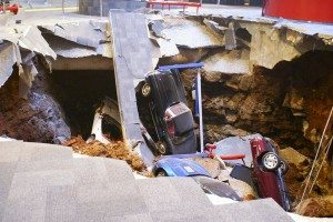 The sinkhole that swallowed 8 priceless Corvettes