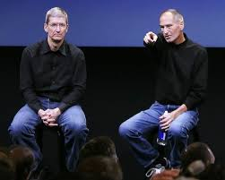 Tim Cook and Steve Jobs together