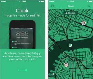 Cloak uses geo-location technology to help you avoid your friends.