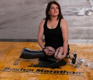 Celeste Corcoran, a survivor of the Boston Marathon.