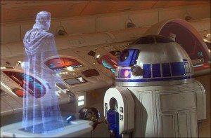 Hologram in the movie Starwars