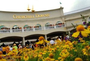 Churchill Downs on the day of the 133rd Kentucky Derby