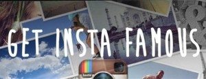 "Picture of Instagram Logo that says, ""Insta Famous""."