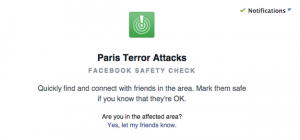 facebook app for paris terror attacks