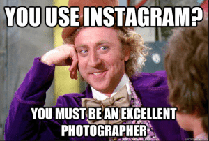 Instagram photographer meme