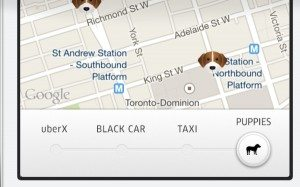 Uber Sends Puppy Love Valentine's Day
