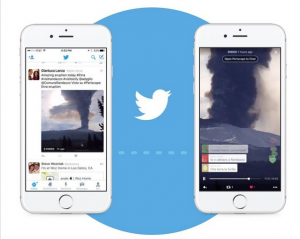 This photo shows how Periscope can be placed directly in a tweet