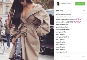 Kim Kardashian West's Social media