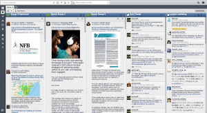 Hootsuite organizes all of your social media platforms in a comprehensive way.