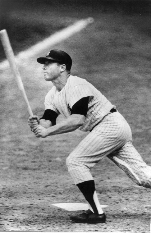 Mickey Mantle hitting the basball, This is a meta or page description using the keyword Title Goes Here.