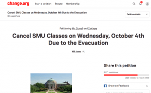 SMU power outage petition