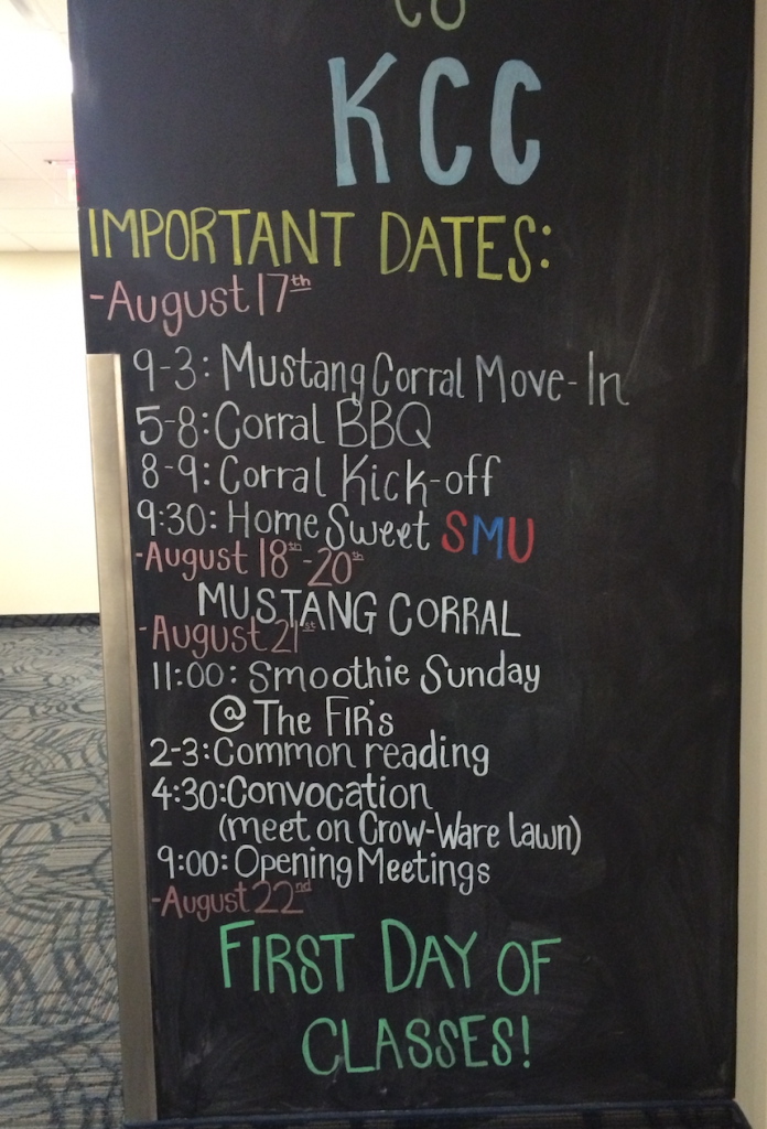 Kathy Crow Commons 2016 Important Dates at Southern Methodist University
